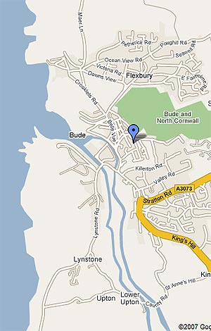 Map of Bude