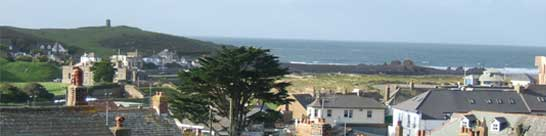 Bude panorama from master bedroom